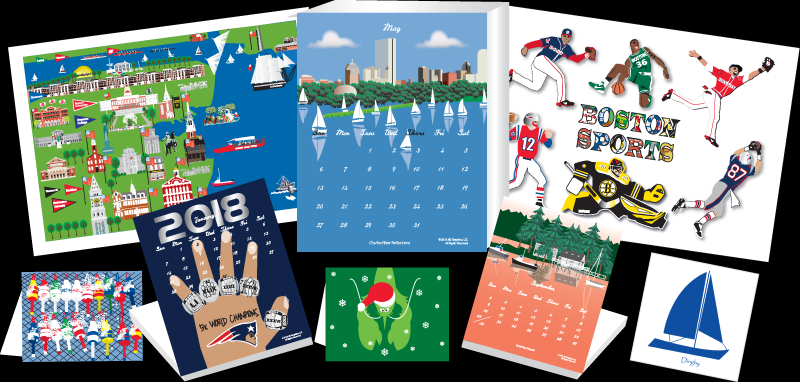 Calendars, note cards, and posters by J&J Graphics.