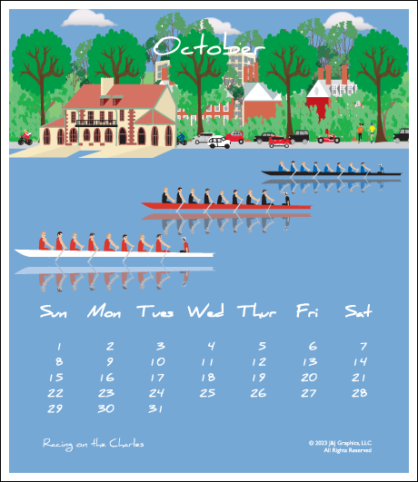 Boston Jewel Case Calendar.