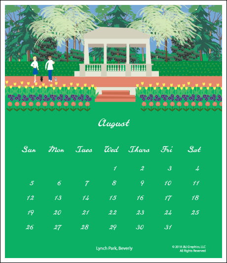 Upper North Shore Jewel Case Calendar.